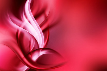 abstract art red waves background