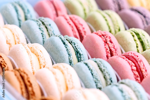 Deurstickers Macarons Colorful Macarons