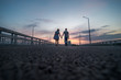 couple walking back