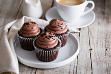 Chocolate Cupcakes With A Cup ...