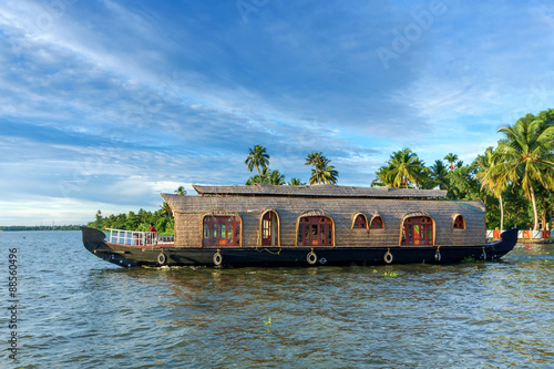 Houseboat on Kerala Backwaters Canvas Print