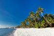 White sand beach on Boracay island
