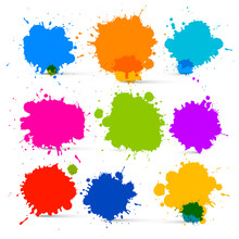 Colorful Vector Isolated Blots...