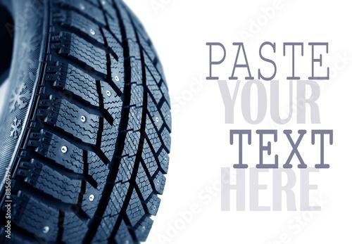 Fotografie, Obraz Winter tire
