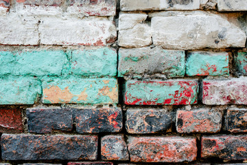 FototapetaTexture. Brick. Wall. A background with attritions and cracks