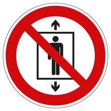Verbotszeichen Personen Befördern Verboten Nach ASR 1.3 P027