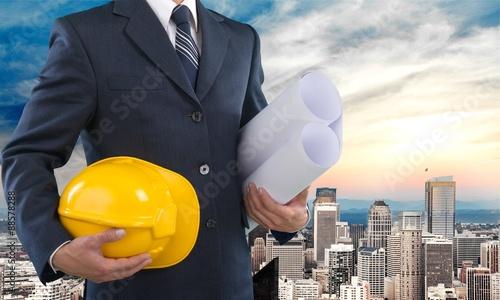 Photo  Architect, helmet, suit.