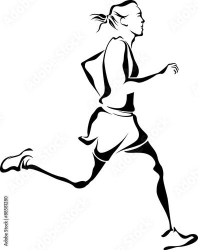 Woman Runner Canvas Print