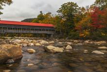 Albany Bridge In Fall