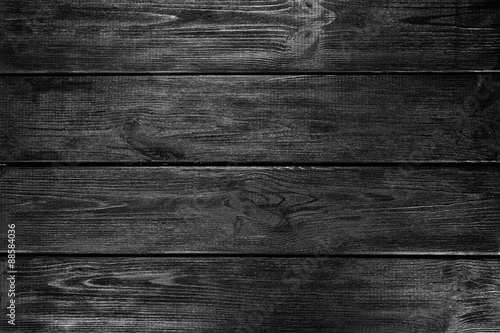 Poster Hout Black wood background
