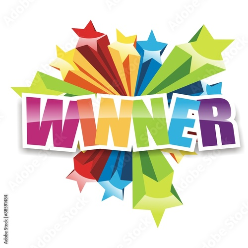 Winner Icon Full Color Billede på lærred