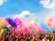 canvas print picture - Holi Festival Farben