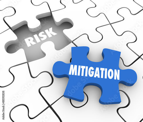 Risk Mitigation Puzzle PIeces Reduce Danger Security Problem Wall mural