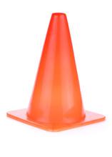 Orange Cone Used Warning Sign Under Construction Work Area