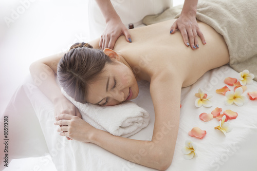 Fotografie, Obraz  Young woman has received the aroma oil massage