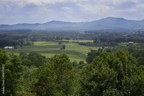 Fotografie, Obraz  Clouds over the mountains at Afton Mountain near Charlottesville Virginia