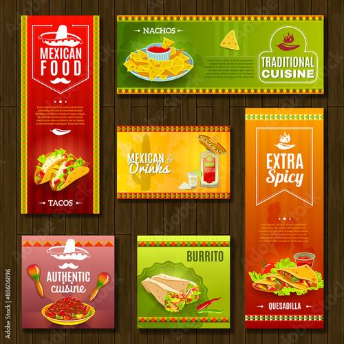 Fotografía  Mexican Food Banner Set
