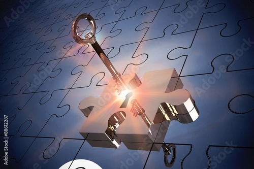 Fotografía  Key unlocking jigsaw