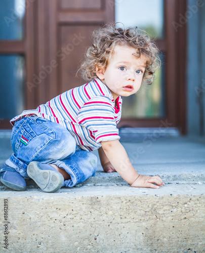 Fototapeta Baby boy portrait obraz na płótnie