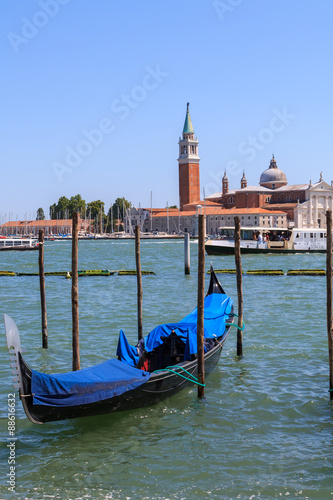Spoed Foto op Canvas Venice and the gondolas in summer