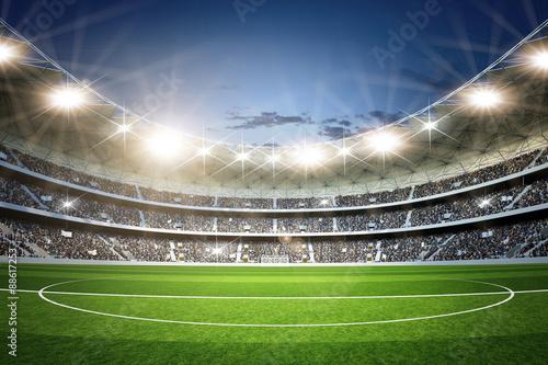 Obraz Stadion 3 Mittellinie neutral - fototapety do salonu