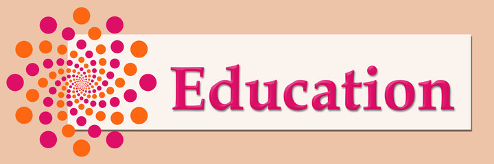 FototapetaEducation Pink Orange White Horizontal