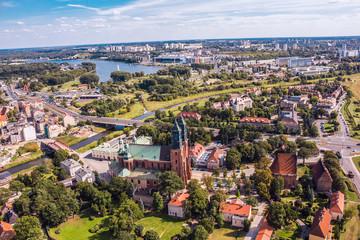Poznań, Ostrów Tumski z Katedrą z lotu ptaka