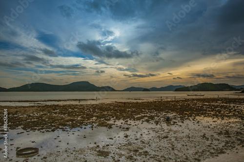 Spoed Foto op Canvas Inspirerende boodschap Low tide, Phuket