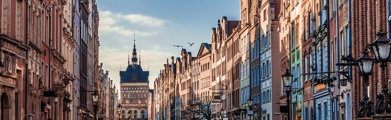 Historic Old Town of Gdansk in Poland