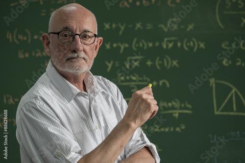 Stampa su Tela Portrait of a proud, male professor