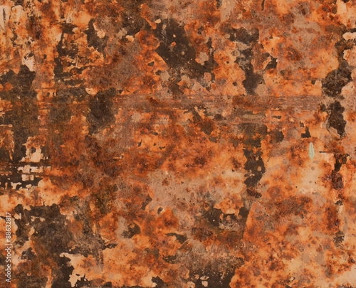 Fototapety, obrazy: Abstract textured rust metal surface background