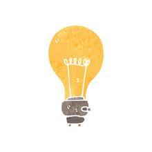Retro Cartoon Light Bulb