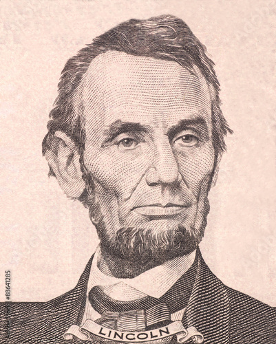 Portrait of first U.S. president Abraham Lincoln Fotomurales
