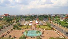 Patuxay Park In Vientiane, Vie...