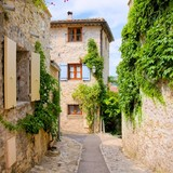 Pretty stone houses in a quaint village in Provence, France - 88641878