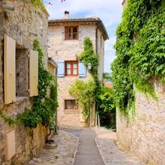 Fototapeta Struktura ściany Pretty stone houses in a quaint village in Provence, France