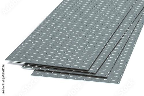 Fotografie, Obraz  steel diamond plates