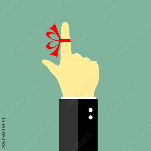 Fotografía  Reminder string on the finger