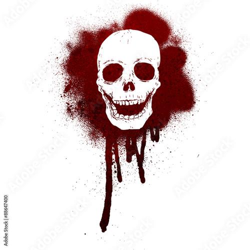 Printed kitchen splashbacks Watercolor skull Graffiti skull pattern