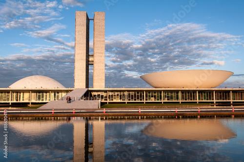 Brazilian National Congress Building in Brasilia