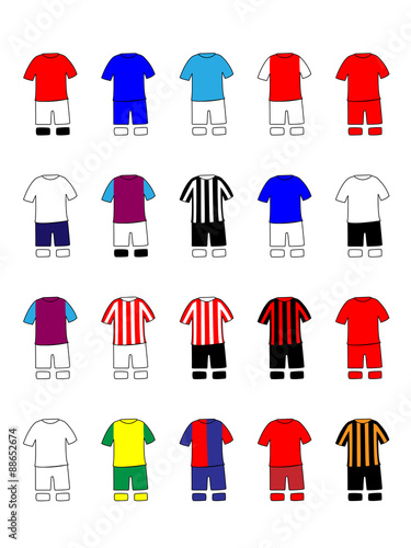 English League Clubs Kits 2013-14 Premier League Wallpaper Mural
