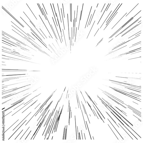 Fotografia, Obraz illustration vector abstract speed motion black lines with copys