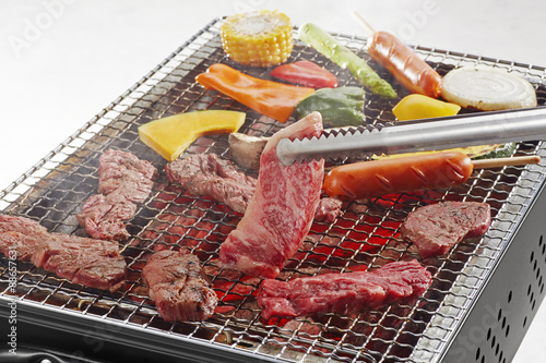 Deurstickers Grill / Barbecue バーベキューイメージ