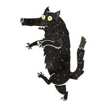 Retro Cartoon Big Bad Wolf