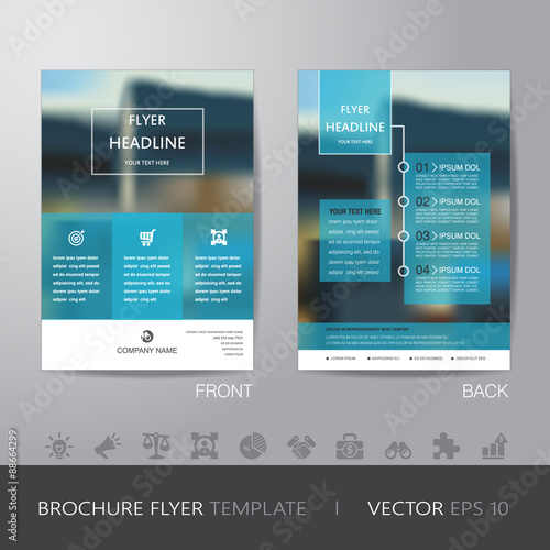 corporate blur background brochure flyer design layout template Poster