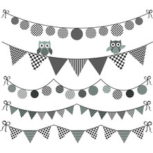 Bunting Owl With Banner