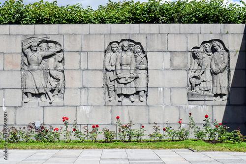 Fotografia  Piskaryovskoye memorial cemetery in Leningrad.