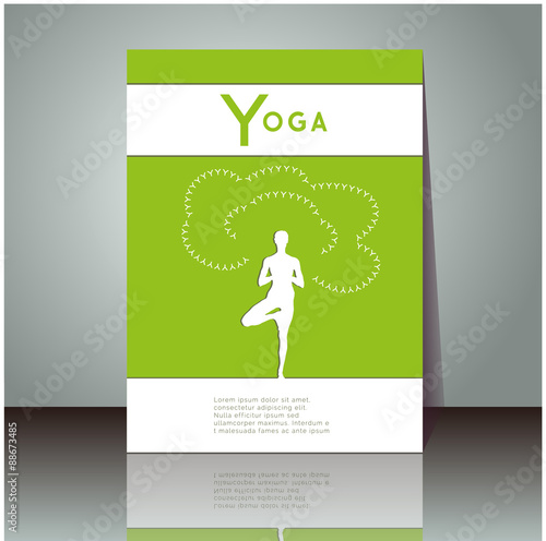 Yoga Vector Poster Professional Flyer Template Or Booklet Design