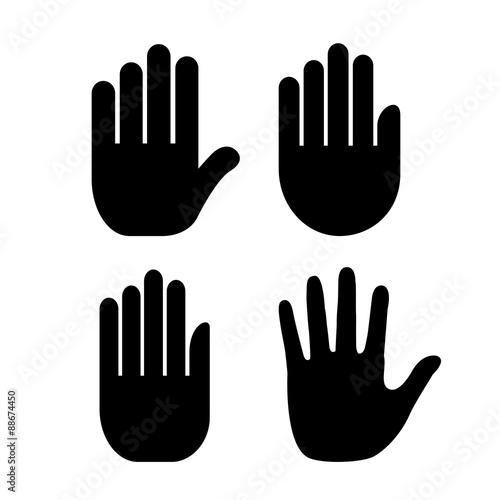 Fotografia Human hand palm icon