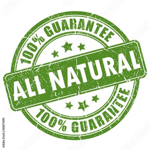 Fototapeta All natural stamp obraz na płótnie